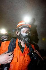 Gelsenkirchen  Deutschland  Tunnelrettungsuebung