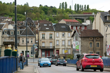 Frankreich  Lothringen  Hayange - strukturschwache Stadt  waehlte 2014 Front National-Politiker zum Buergermeister