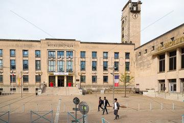 Frankreich  Lothringen  Hayange - Rathaus der strukturschwachen Stadt  waehlte 2014 Front National-Politiker zum Buergermeister