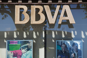 Barcelona  Spanien  Filiale der BBVA  Banco Bilbao Vizcaya