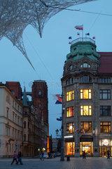 Breslau  Polen  Blick ueber den Marktplatz in der Altstadt