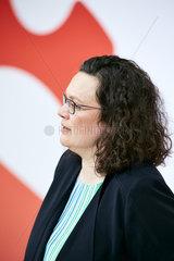 Berlin  Deutschland - SPD-Vorsitzende Andrea Nahles.