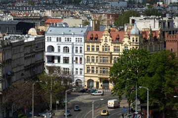 Breslau  Polen  Blick auf Altbauten der Stadt