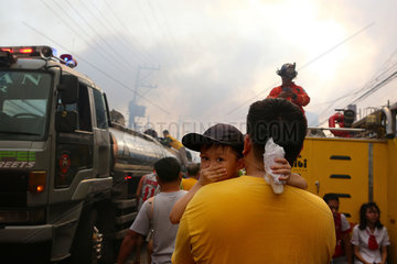 INDONESIA-QUEZON CITY-SLUM AREA-FIRE