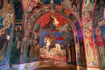 Republik Zypern - byzantinische Wandmalereien in der Asinou Kirche