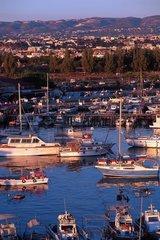 Republik Zypern - Uebersicht vom Hafen von Paphos