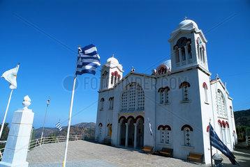 Republik Zypern - Griechisch-orthodoxe Kirche im Dorf Pedhoulas