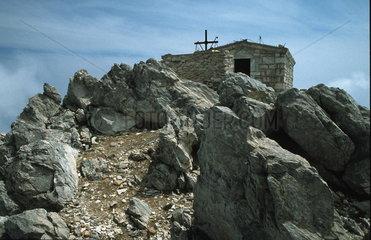 Autonome Moenchsrepublik Athos  Kapelle auf dem Athosgipfel