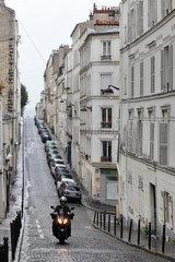 Paris  Frankreich  Wohnstrasse im Quartier Latin  Lateinisches Viertel