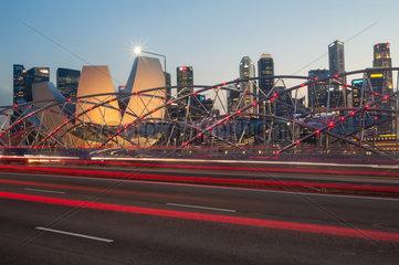 Singapur  Republik Singapur  Asien  Blick auf das Finanzzentrum von Singapur