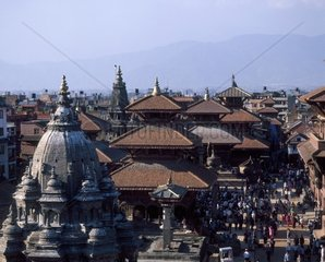 Nepal  Patan Durbar square  palaces and temples