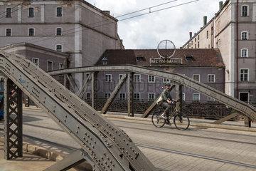 Breslau  Polen  die Mlynskie-Bruecken