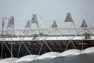 London  Grossbritannien  Blick auf das Olympiastadion