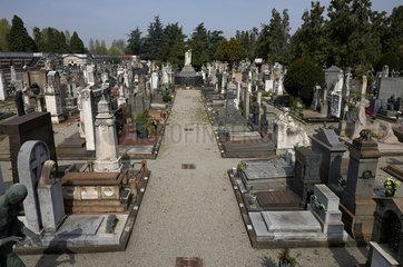 Mailand  Italien  Ruhestaetten wohlhabender Buerger auf dem Cimitero Monumentale
