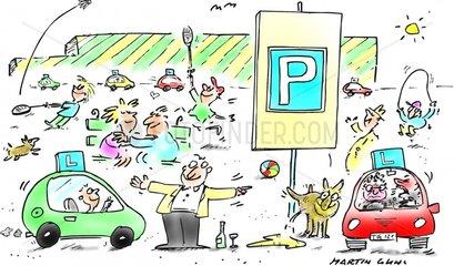 Parkplaetze im Freizeitgelaende