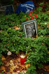 Berlin  Deutschland  Grab von Rio Reiser auf dem Alten St.-Matthaeus-Kirchhof Berlin