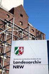 Duisburg  Nordrhein-Westfalen  Deutschland  Baustelle des Landesarchiv Nordrhein-Westfalen im Duisburger Innenhafen