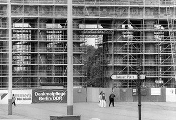 Brandenburger Tor  Renovierung  1990
