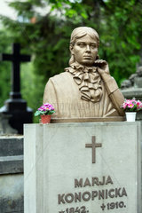 Lemberg  Ukraine  Grab von Marja Konopnicka auf dem Lytschakiwski-Friedhof