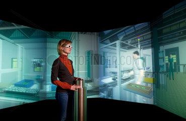 Dortmund  Deutschland  virtuelle Fabrik der Zukunft im Museum DASA