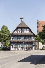 Fachwerkhaus mit Storch