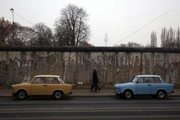 Berlin  Deutschland  Teil der ehemaligen Grenzmauer in der Bernauer Strasse