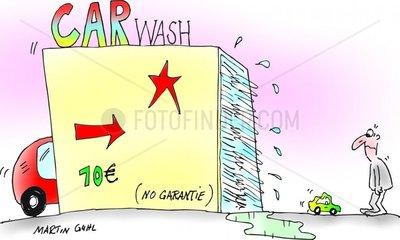 Waschanlage ohne Garantie