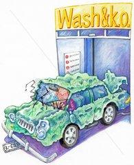 Waschanlage Autoschaden