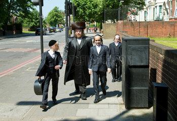 London  Grossbritannien  ultraorthodoxe Juden im Stadtteil Hackney