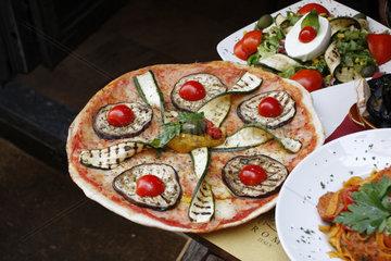 Pizza mit Gemuese