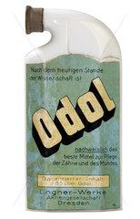 alte Flasche Odol Mundwasser  1930