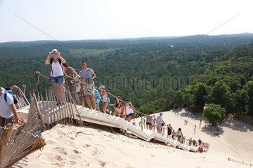 Arcachon  Frankreich  Blick von der Dune du Pilat