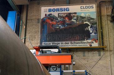 Berlin  Deutschland  Plakat anlaesslich des Jubilaeums der Borsig GmbH