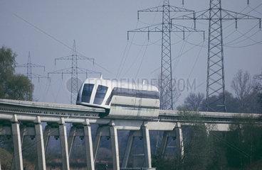 Transrapid 7 auf Testfahrt