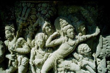 Indonesia  Java  Borobudur temple  bas-relief