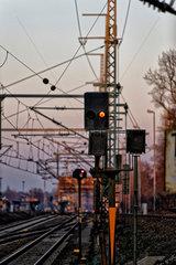 Berlin  Deutschland  Eisenbahn-Lichtsignal