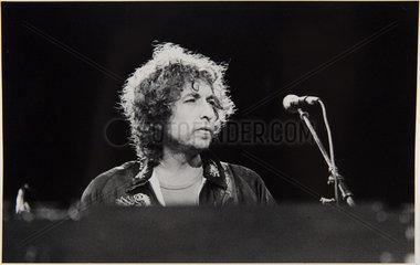 Bob Dylan fotografiert 1981 in Bad Segeberg