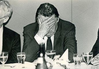 Franz Josef Strauss  CSU  Wahlabend Bundestagswahl 1987
