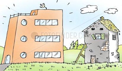 Kontraste beim Wohnen