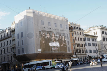 Fassadenwerbung in Rom