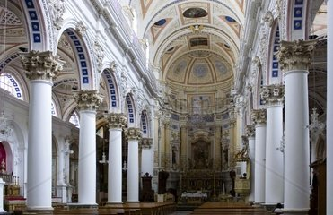 Italy  Sicily  Modica  the duomo of SPietro (XVII cent)  interior view