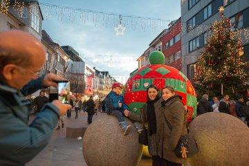 Strickguerilla Weihnachtsmarkt