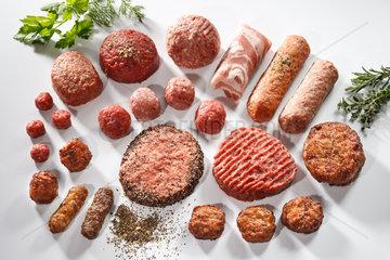 Riedlingen  Deutschland  Fleischkloesschen Mix