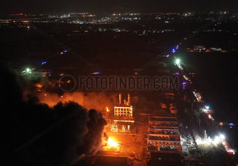 (SPOT NEWS)CHINA-YANCHENG-FACTORY EXPLOSION (CN)