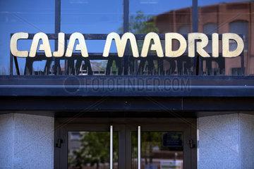 Barcelona  Spanien  Filiale der Sparkasse Caja Madrid