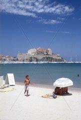 France  Corsica  Calvi the beach