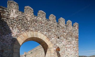 Sigueenza  Spanien  Detailaufnahme des Castillo de Sigueenza