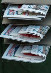 Gardelegen  Deutschland  Zeitungen in Briefkaesten
