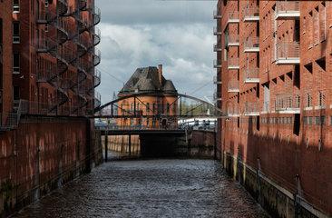 Hamburg  Deutschland  Kontorhaeuser in der Speicherstadt im Hamburger Hafen