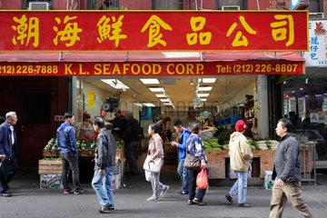 New York  USA  Lebensmittelgeschaeft fuer Meeresfruechte